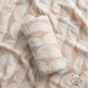 Large 120cm Breathable Cotton Natural Rainbow Baby Muslin Swaddle Cloth Blanket