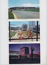 Postcard fold out 12 view type of Canberra Australia, mint, Mimosa & Us Embassy