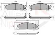 Allied Nippon Freno Delantero Pad Set ADB3863-Totalmente Nuevo-Garantía De 5 año