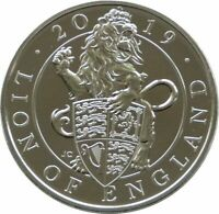 2019 Royal Mint Queens Beasts Lion of England £5 Five Pound Coin