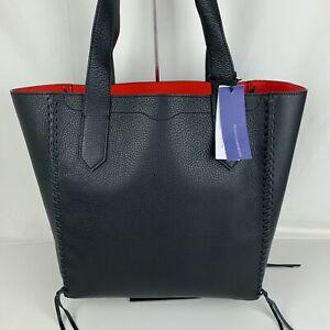 New Rebecca Minkoff Medium Black Leather Panama Tote HU17EPNT99