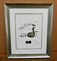 Gerard Puvis Foil Art Print Susanna Kelham Wine Napa Vineyard Signed & Framed