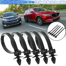 Mount Clips Push Wire Ties Fastener Strap For Honda for Mazda 9mm Hole Plastic