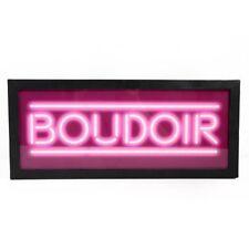 BOUDOIR Light Up Box UK Mains Plug 240v Pink Bedroom Metal Sign Retro