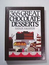 365 Great Chocolate Desserts Haughton 1991 First Edition 1st Spiral Hard Back