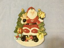 Fitz and Floyd SANTA Christmas Holiday Omnibus Canape Cookie Display Plate 1996