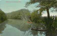 c1910 Postcard; Catfish Point at Pecatonica River, Lafayette County WI Posted