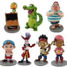 7 pcs Captain Jake and The Never Land Pirates Action Figure Set Toy Cake Topper