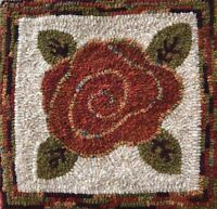 Swirly Rose Rug Hooking Pattern or Kit. GREAT PATTERN FOR BEGINNERS