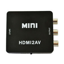 Mini Composite HDMI to RCA AV /CABS Audio Video VCR PAL Adapter Converter Black