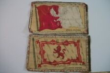 Antique Felt Tobacco Cigarette Cigar Premium Medium Scotland & Poland Flags 1910