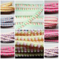 "CRAFT-SEWING-TRIM/""New Stock/"" 1.5mtrs x 14mm Diameter Coral Pink Pom Pom Fringe"