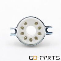 2PCS 9pin B9D MAGNOVAL Ceramic Tube Sockets for EL504 EL509 EL502 Chassis Mount