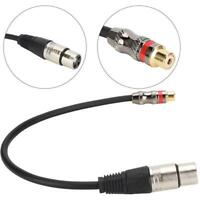3.5/6.35mm RCA XLR Jack Female to Male Plug Audio Adapter Cable Stereo AUX Cord