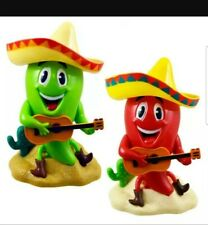 Solar Figures Plastic Chili Pack of 2 Green+ Red 4 inches Bobblehead Toys New