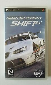 Need For Speed Shift Playstation Portable PSP UMD Game Complete CIB TESTED