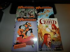 Maintenance volume 1 2 3 & The Guild by Felicia Day TPB lot