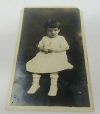 Young Girl Postcard RPPC AZO 1918-1930 Real Photo