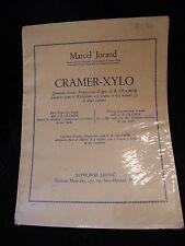 Partition Cramer Xylo Marcel Joland Music Sheet