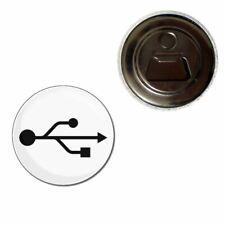 USB Logo - 55mm Fridge Magnet Bottle Opener BadgeBeast