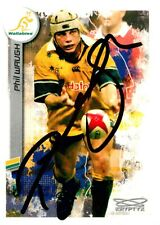 ✺Signed✺ 2003 WALLABIES Rugby Union Card PHIL WAUGH