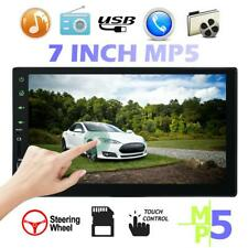 7 Double 1080p 2 DIN Car GPS FM Stereo Radio MP5 Player Touch Screen Bluetooth