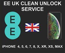 EE UK Clean Network Unlock Service, iPhone 4, 5, 6, 7, 8, X, XR, XS, XS MAX