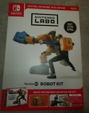 """Switch Nintendo Labo robot  Original poster double sided 24""""x16"""" promo Display"""