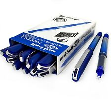 Uni-Ball UB-185S Rollerball Pen – 0.5mm Needle Point – Pack of 12 – Blue