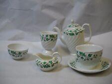 6 Piece Set BURLEIGH IRONSTONE China Teacup SUACER Teapot CREAM Sugar CUP