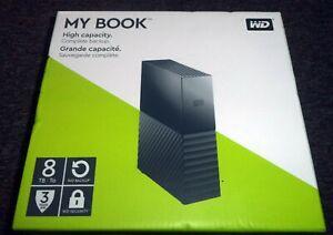 WD My Book 8TB Desktop External Hard Drive for Windows/Mac/Laptop, USB 3.0 Black