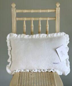 Rachel Ashwell Shabby Chic Decorative Royal Velvet Plush Ruffle Boudoir Pillow