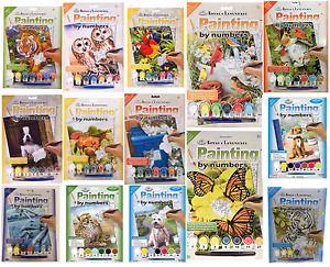 47 DESIGNS CANVAS PAINT BY NUMBERS ARTIST PAINTING KITS Animals - Kids - Adults