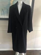 Danny Brook Woman's Wool Long Jacket Winter Black size 8