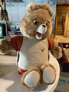 Vintage Teddy Ruxpin 1985 Talking Animated Bear In Original Suit Tape works