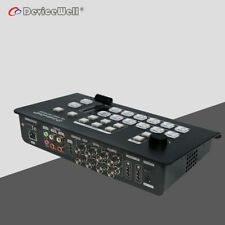 DeviceWell HDS7106 2 HDMI 4 SDI Video 6-Channel Mini Switcher for Live Broadcast