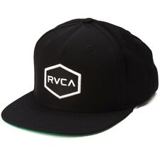 New RVCA Commonwealth II Black Snapback Hat Cap