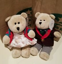 2017 Starbucks Christmas Bearista Bears Boy & Girl 135 & 136 Limited Edition USA