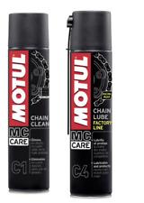 Motul Kit C1 + C4  Sgrassatore catena con Lubrificante 2 x 400 ml - Nero