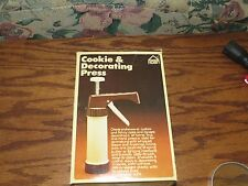 Cookie and Decorating Press from Hoan Plastic in Box