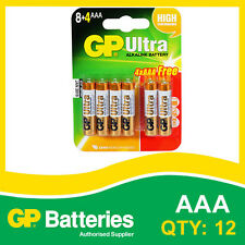 GP Ultra Alkaline AAA Battery card of 12 (8+4) [MP3, CAMERAS GAMES CONSOLES]
