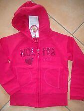 (3) Nolita Pocket Girls Kapuzen Sweatjacke Logo Pailletten Besatz Taschen gr.104