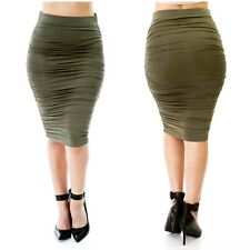 Ruched Fitted Skirt