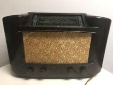 Philips Tube Radio Model 170A/15 Circa 1946 Brown Bakelite Made in Great Britain