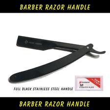 Professional Barber Hair Shaving Razor Straight Folding Knife With 10 Free Blade