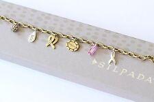 "Silpada ""Pink Out Loud"" Breast Cancer Brass Sterling Silver Bracelet B3384"