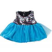 "BLUE SPARKLY BALLGOWN PROM DRESS - FITS 16"" /40cm BUILD A TEDDY BEAR CLOTHES"