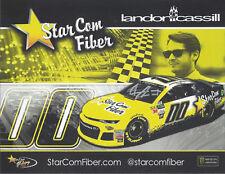 "2018 LANDON CASSILL ""STAR COM FIBER"" #00 MONSTER ENERGY NASCAR CUP POSTCARD"