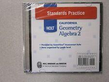 Holt California Geometry & Algebra 2 Standards Practice CD-ROM New 0030990610