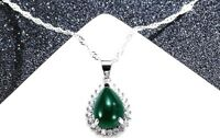 Sterling Silver 925 Jade Pendant Necklace